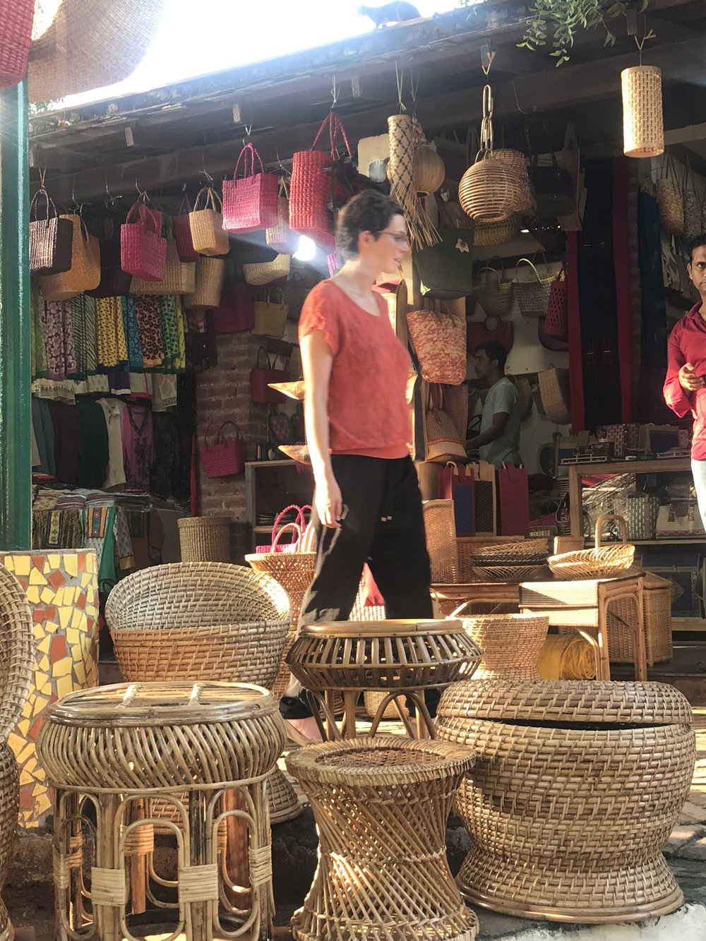 Baskets at the Dilli Haat Market