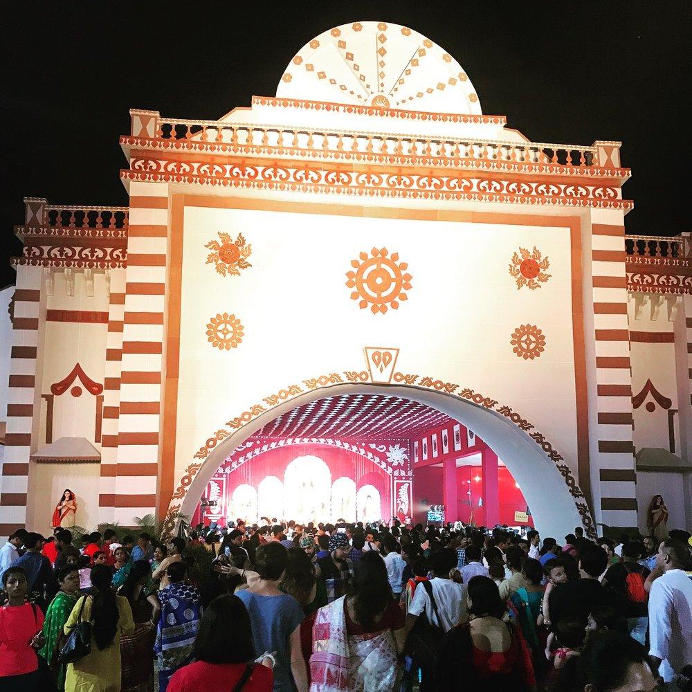 Minhazz took us to the Durga Puja Festival