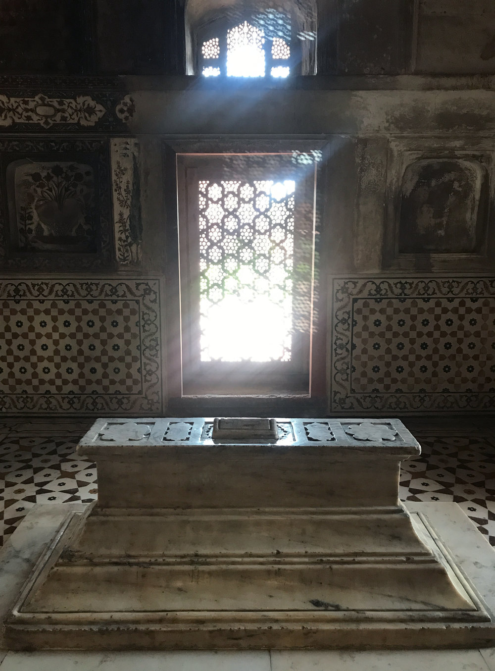inside the mausoleum