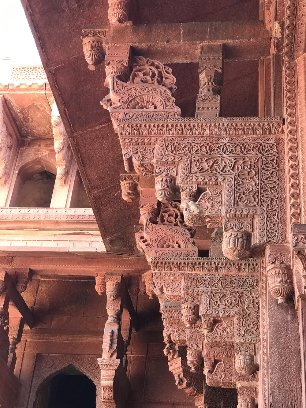 ornamental detail at the Red Fort