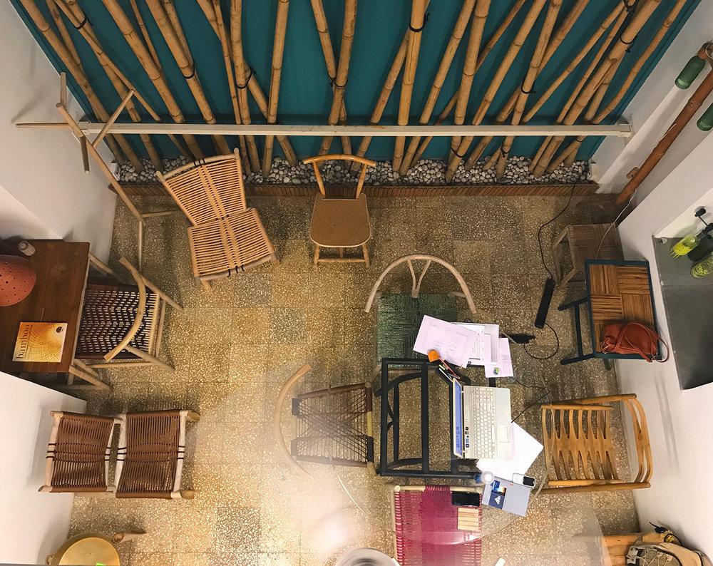 Studio Rhizome, wherever you look you see bamboo