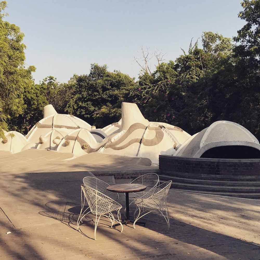 Amdavad ni Gufa, an underground art gallery by Balkrishna Vithaldas next CEPT University