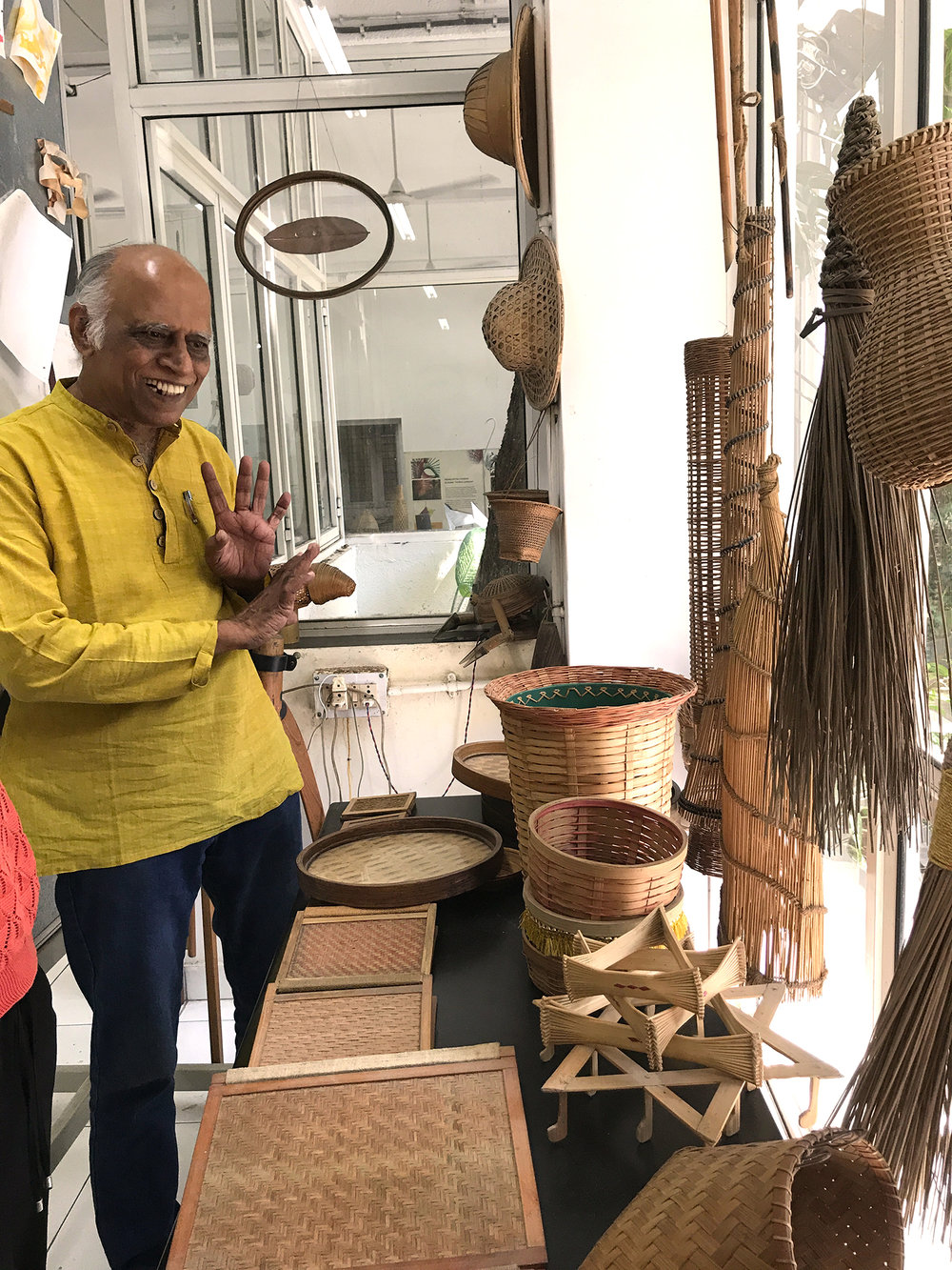 A.G. Rao and his huge bamboo collection