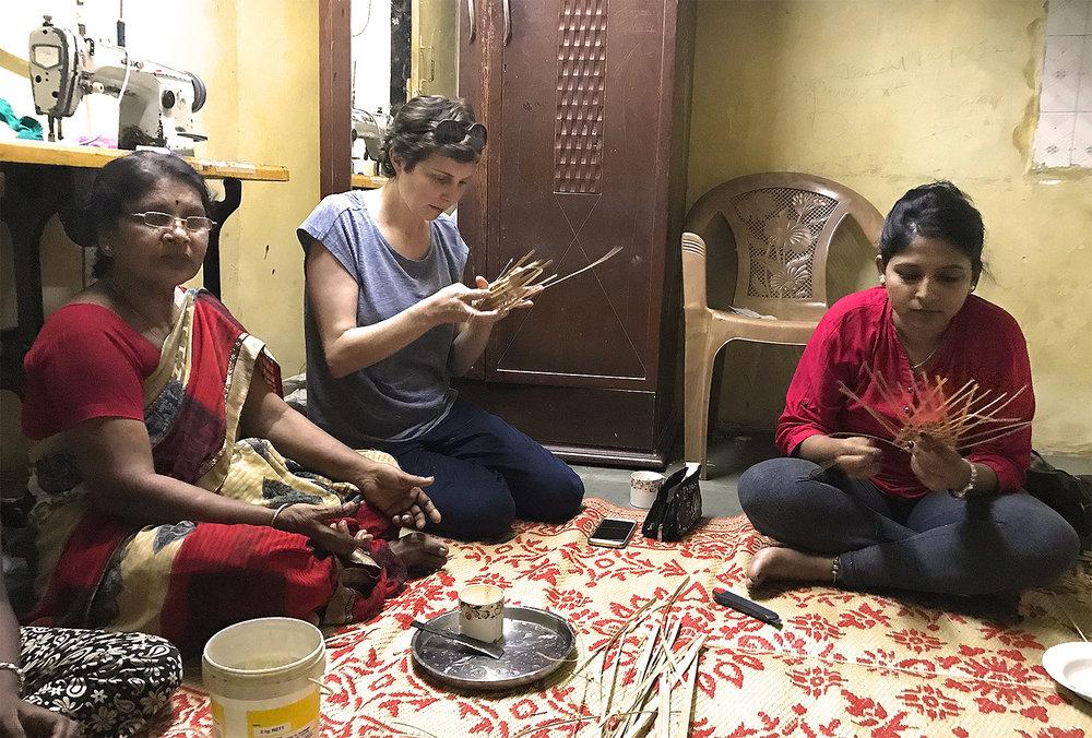 Gangamma, Carina and Sanghmitra.