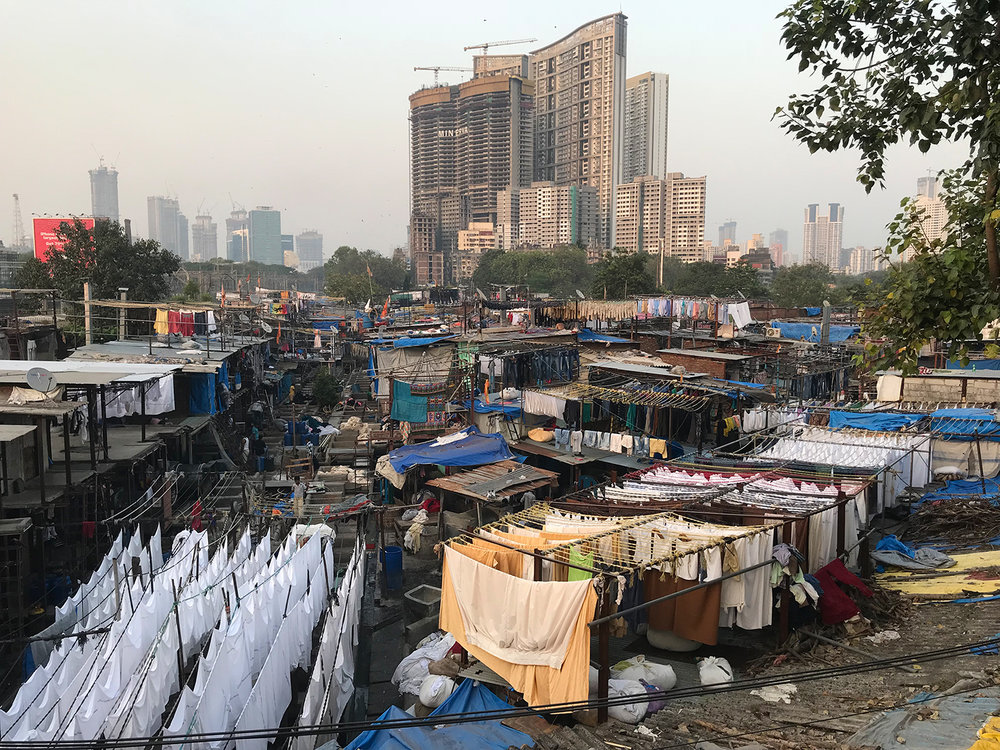 Dhobi Ghat, open air laundromat in Mumbai.