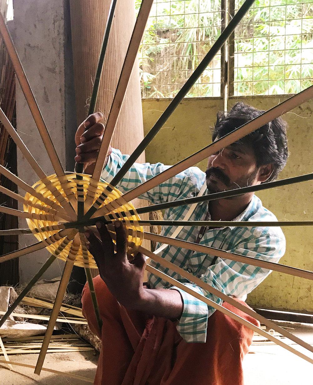 Raju the man for bamboo baskets.