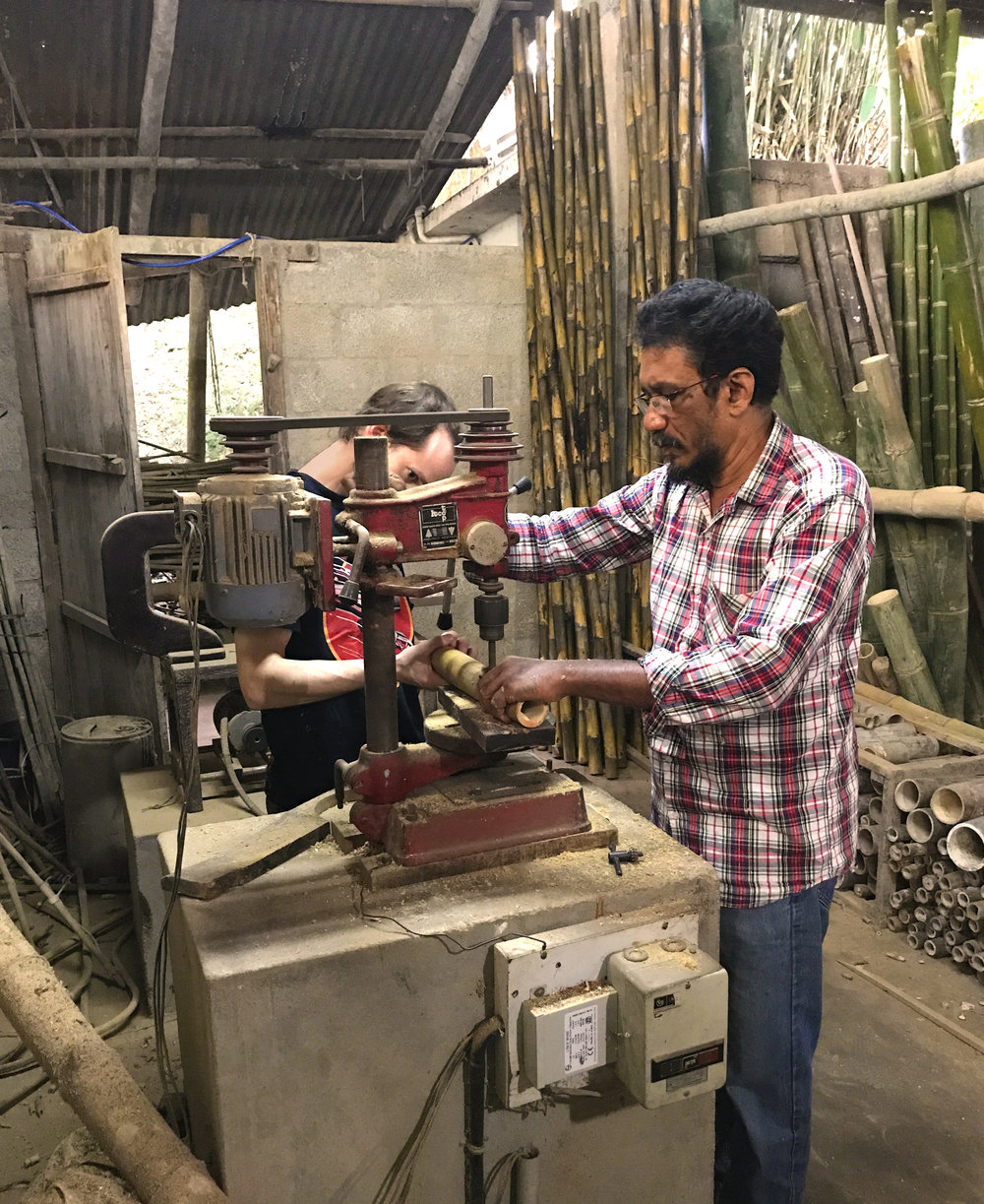 Bambo joinery workshop with Sadu.