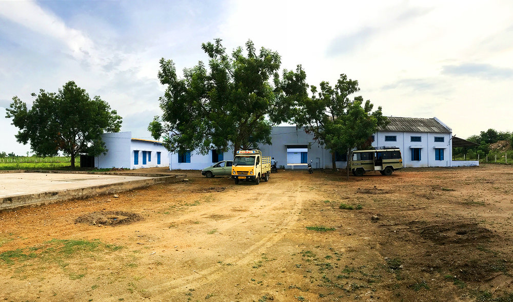 The new fabrication hall and headquarter of ROPE in Kuchampatti.