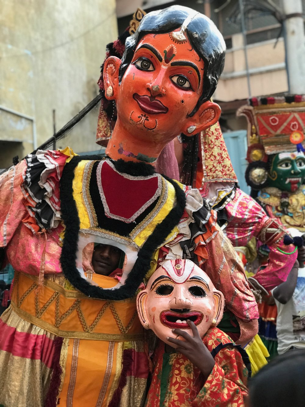 Traditional masquerade at the festival.