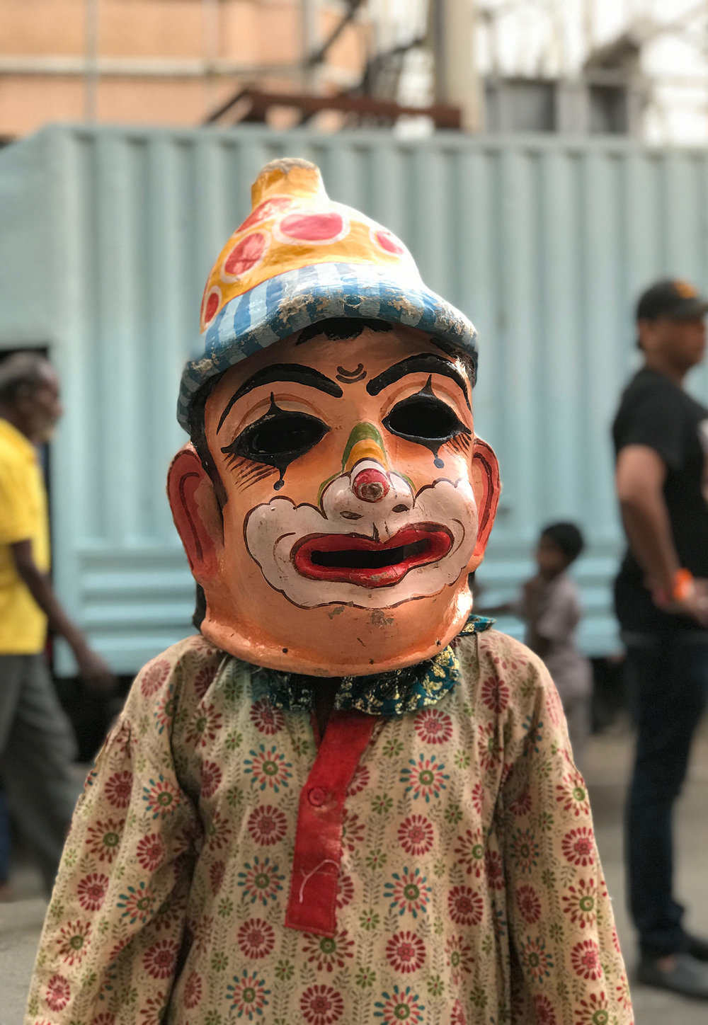 Actor of a festival at Shanthi Road, Bangalore