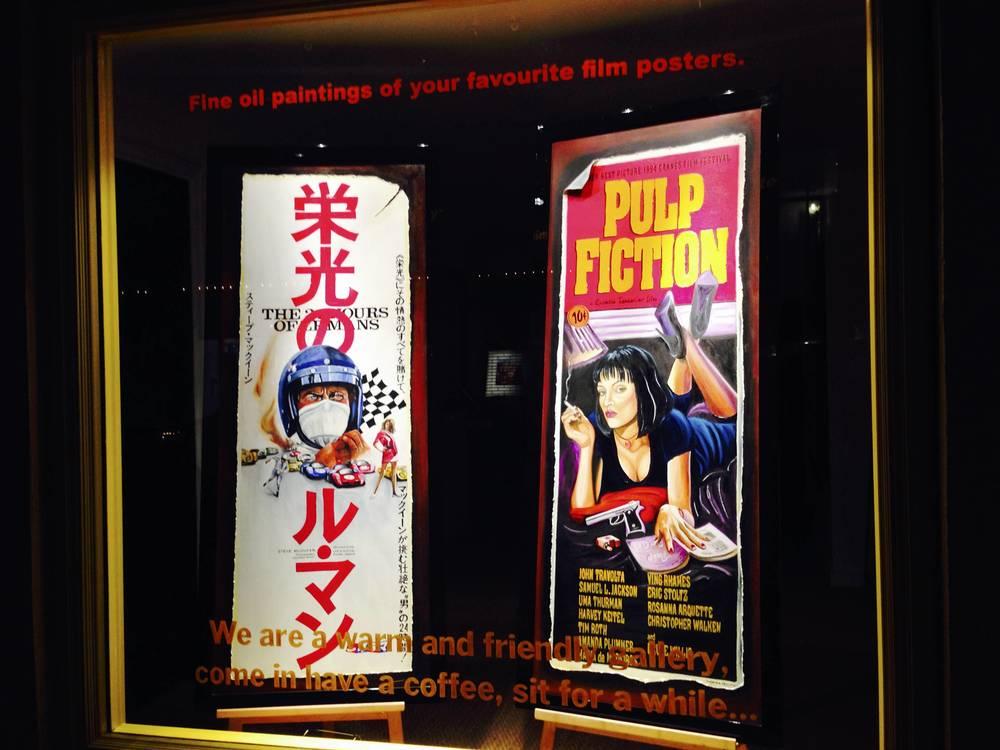 展出电影海报的 Gallery ,在街上看到了熟悉的日文