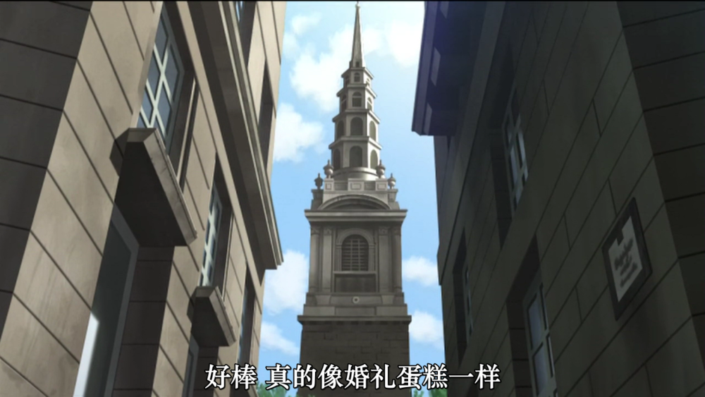 小巷子里面蓦然看到的 Saint Bride Church