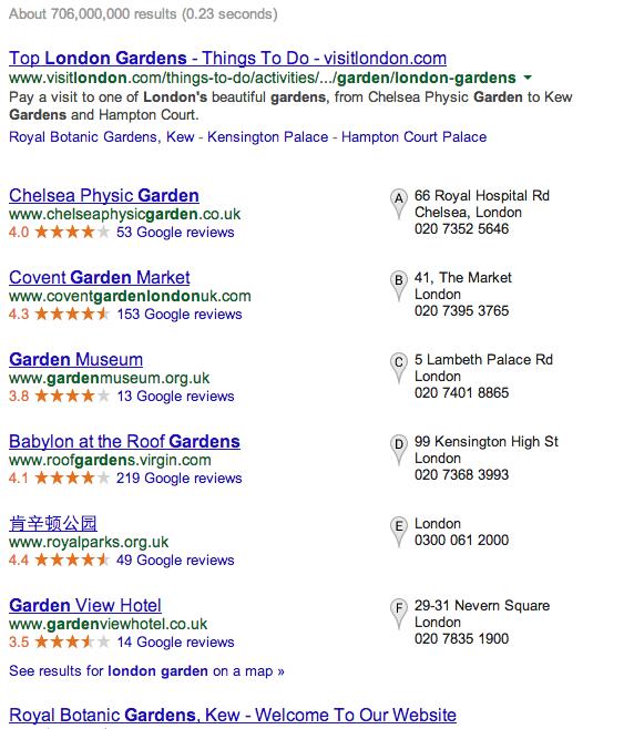 不可能被搜索到的『 London Garden 』店名