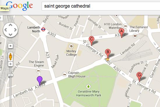 从 Google 地图上面找到的圣乔治教堂
