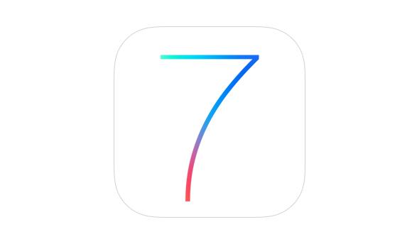 The logo of iOS 7 uses Helvetica Neue (light).