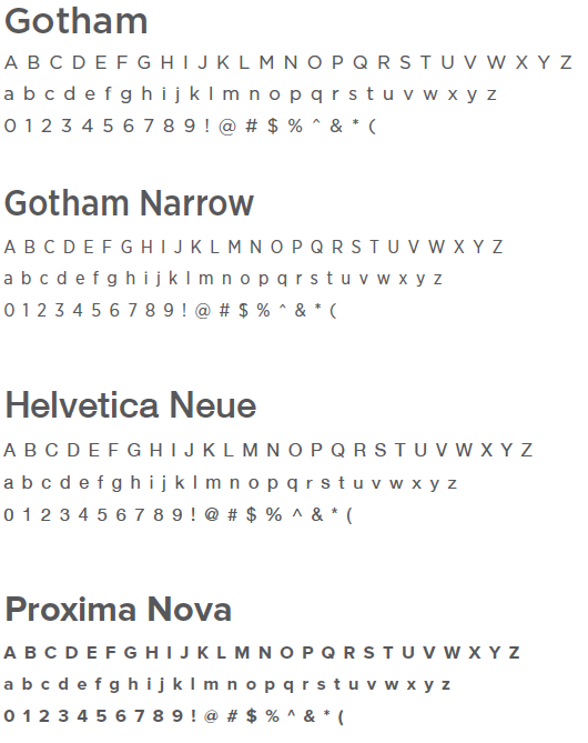 Twitter's guidelines of fonts