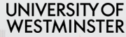 Part of the logo of University of Westminster