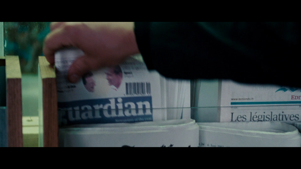 Bourne Bought  the Guardian  immediately upon arrival