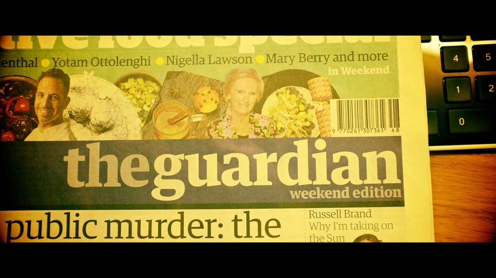 My copy of the Guardian on my desk