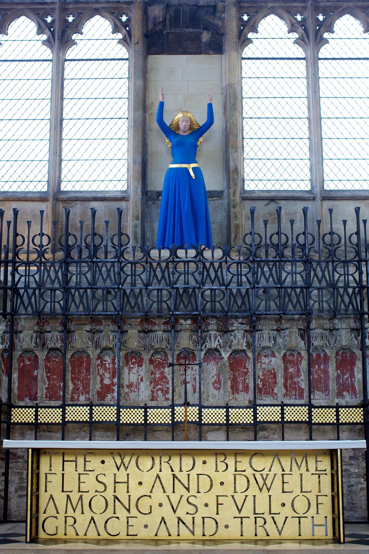Lady's Chapel ,Mary 塑像。