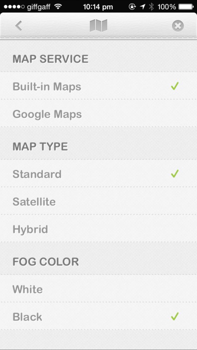 Fog of World 地图选项