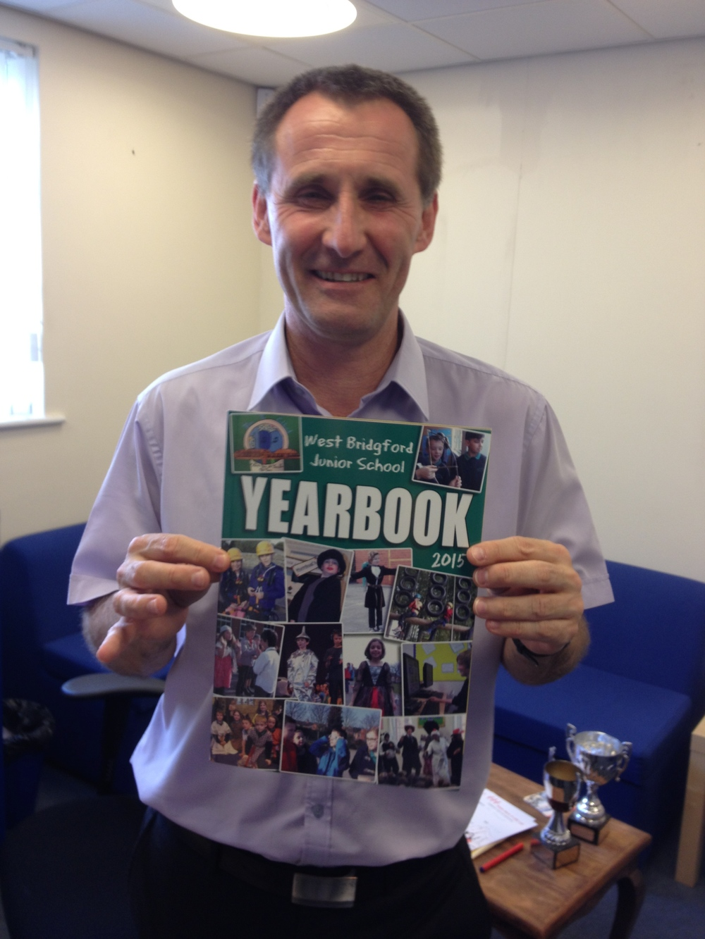Steve Arnold with his KCD Yearbook