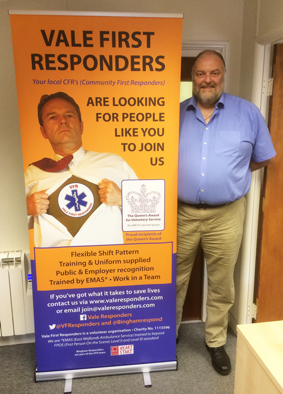 Vale First Responders banner design