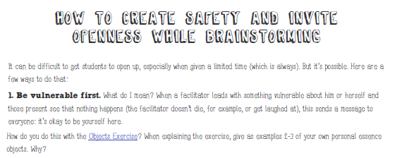 3.2.PDF: How to Create Safety and Invite Openness While Brainstorming