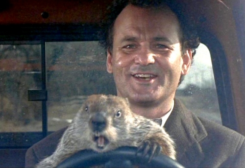 If you haven't yet seen Groundhog Day, please do so as soon as possible. And don't drive angry.