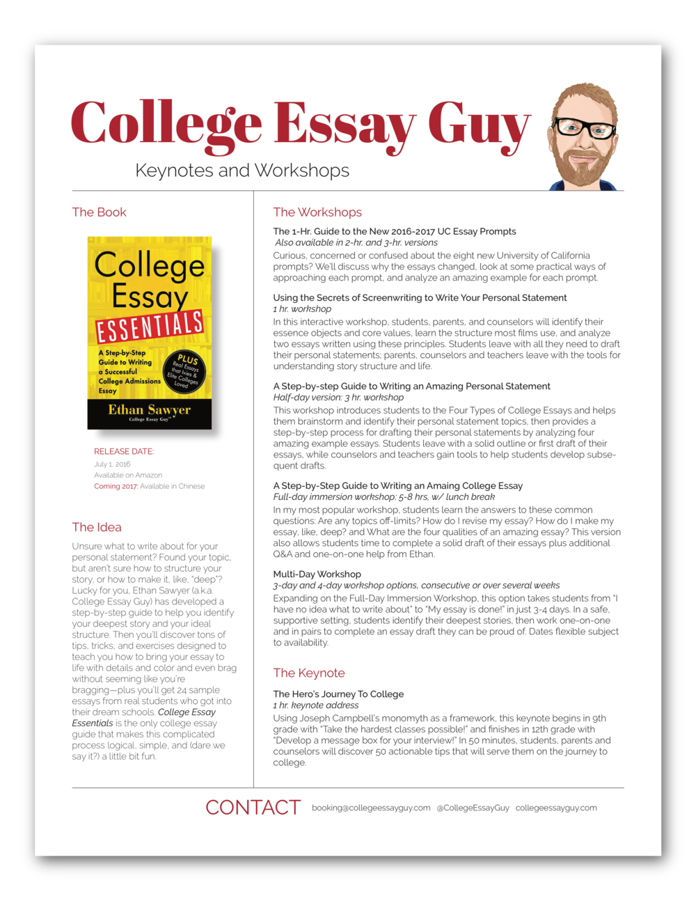 workshops college essay guy get inspired a workshop at your school or organization