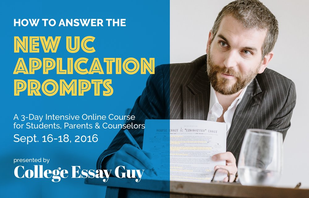 How to Answer the New UC Application Prompts