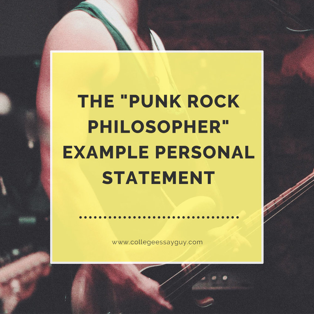 The Punk Rock Philosopher example essay