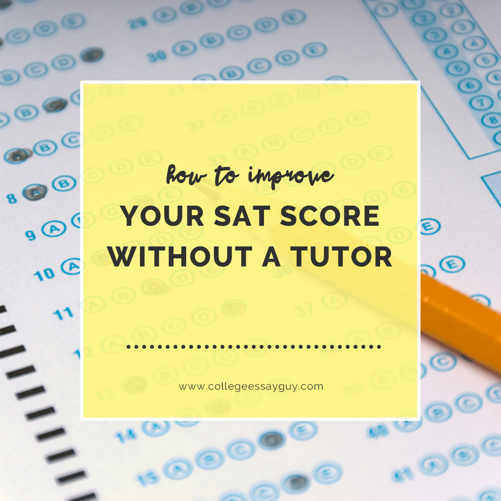 How to improve your sat score without a tutor