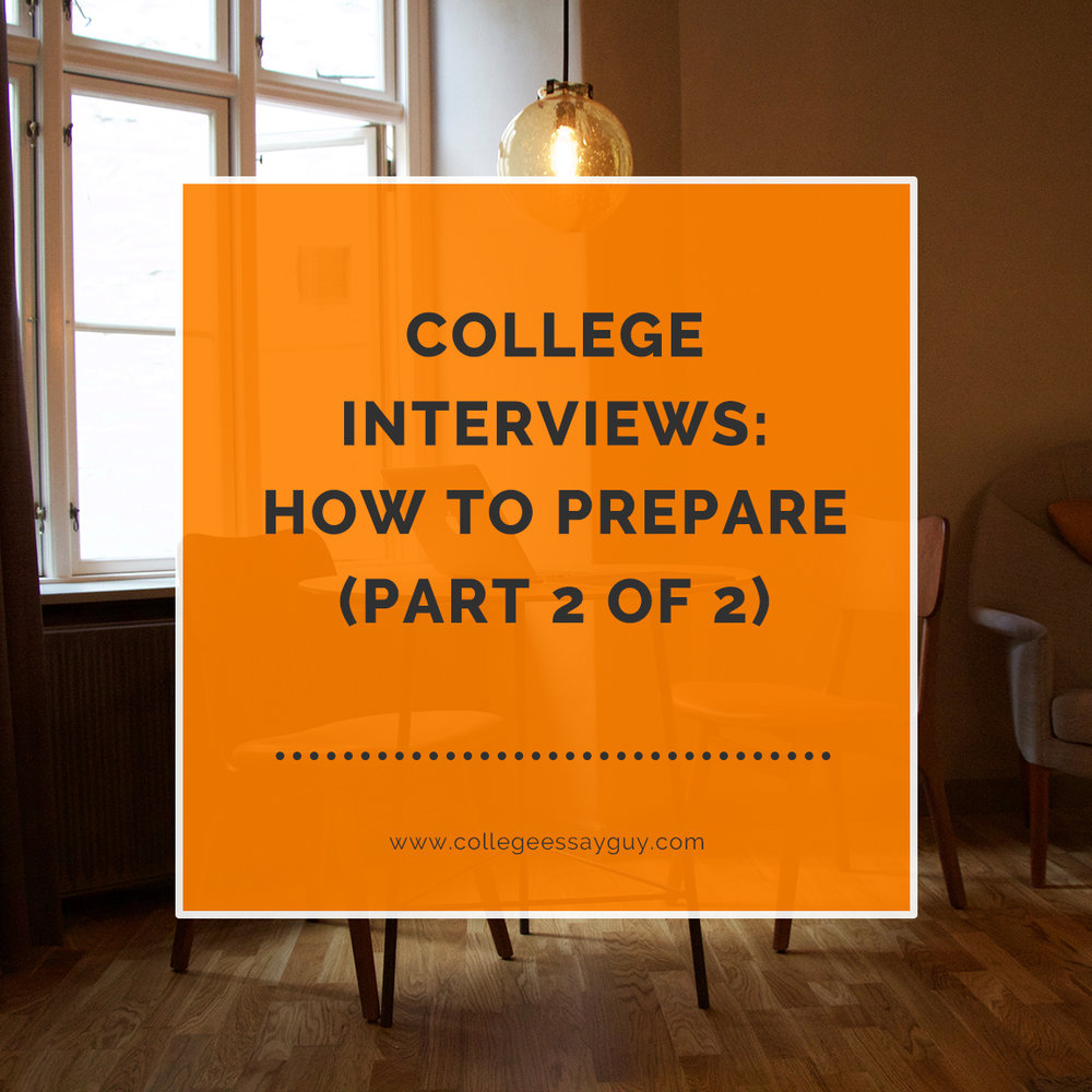 College Interviews Do They Really Matter Part 1 of 2