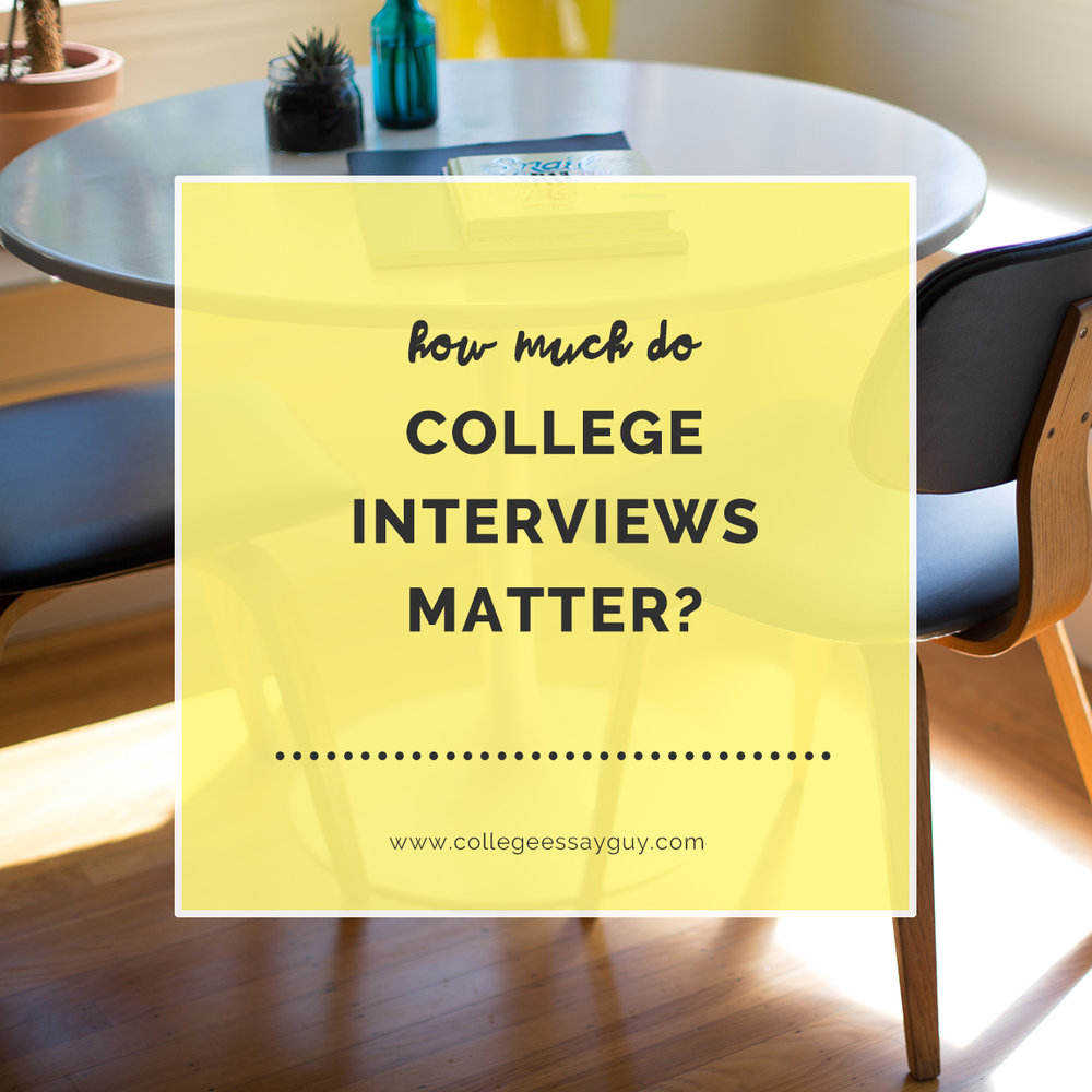 How Much Do College Interviews Matter