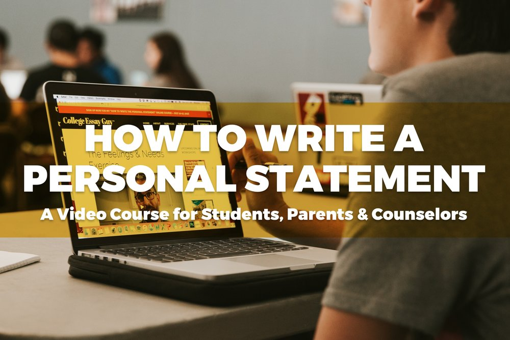 how to write the personal statement