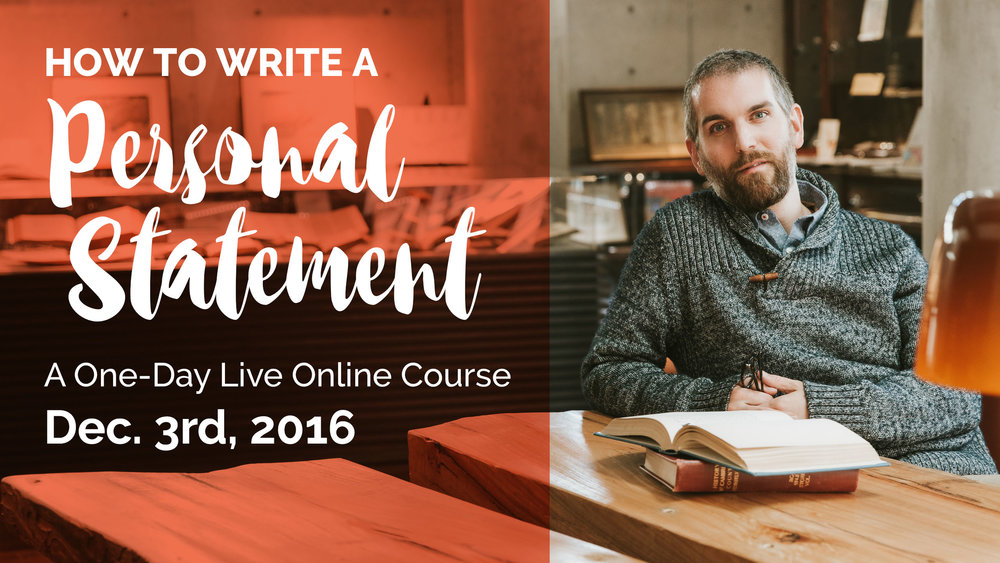 free webinar how to write a personal statement