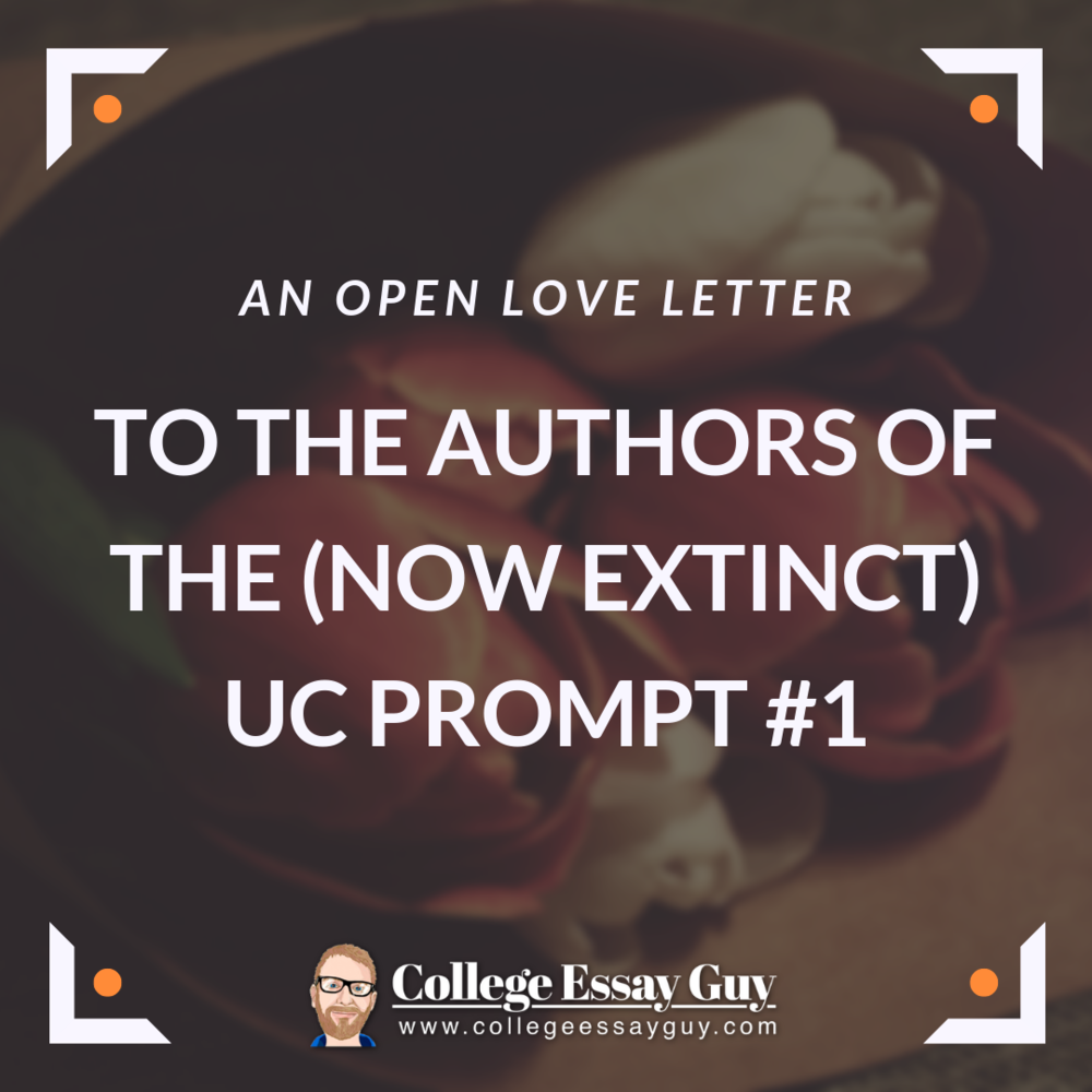 An Open Love Letter To The Authors Of Now Extinct UC Prompt 1