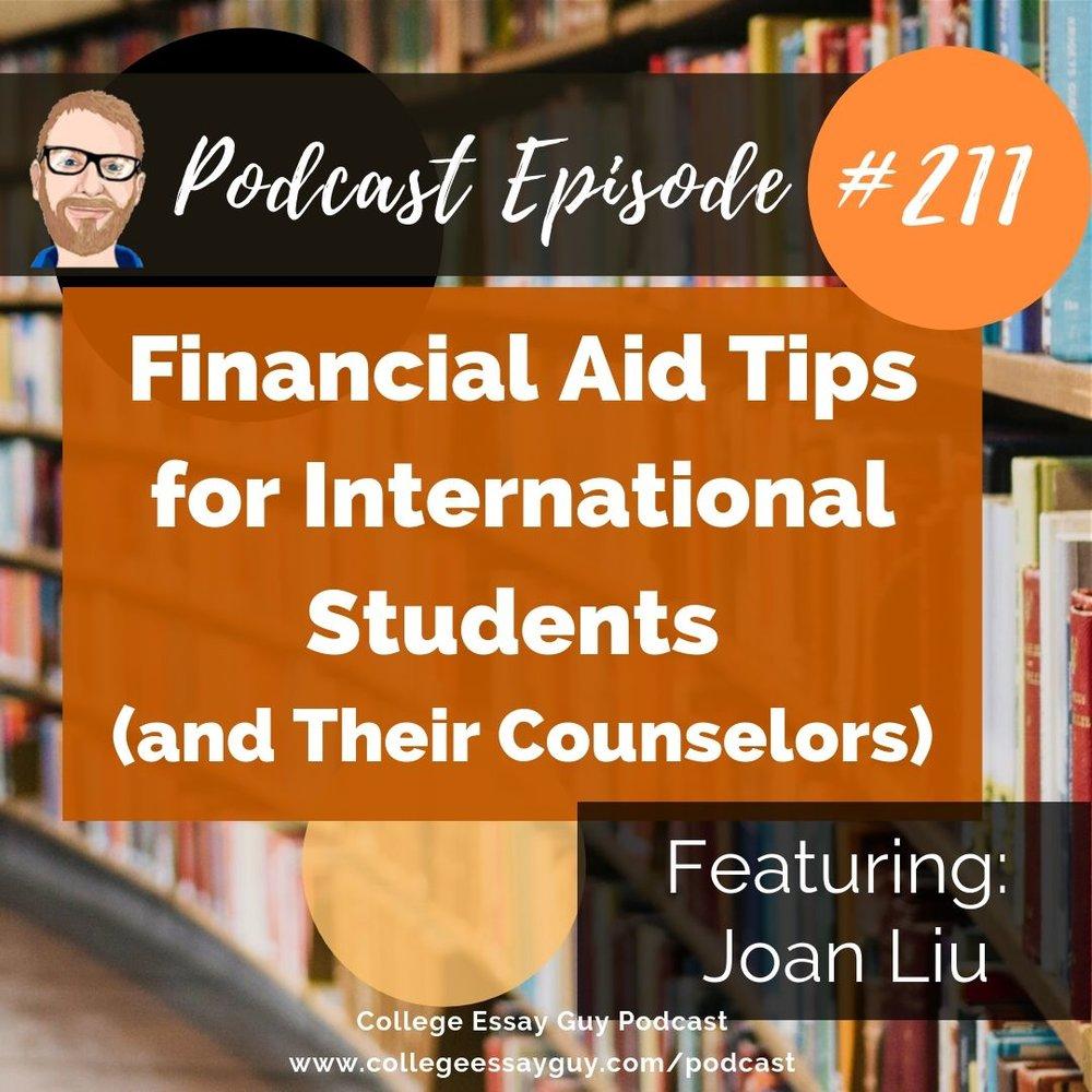 Financial aid essay format