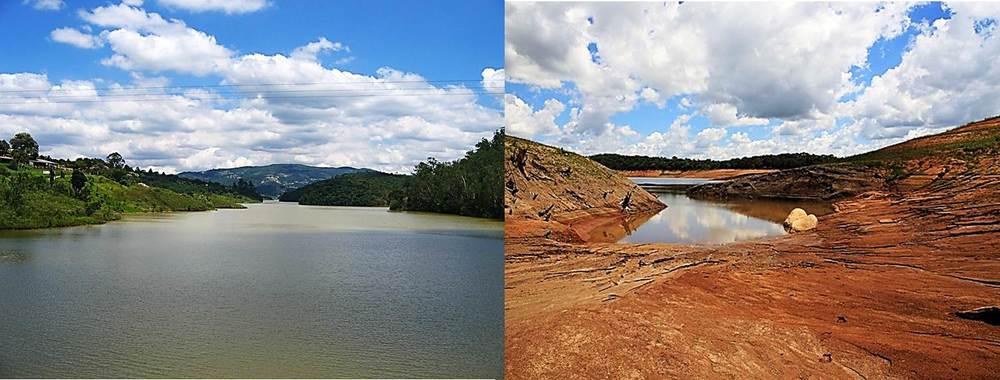 Foto före/efter reservoaren Cantareira