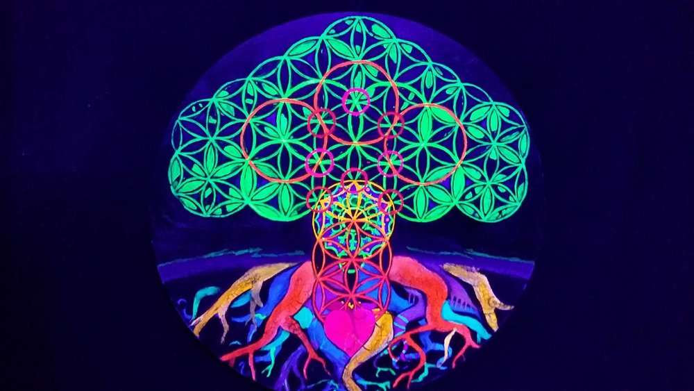 A neon tree of life. Not to be confused with your tantra stuff.