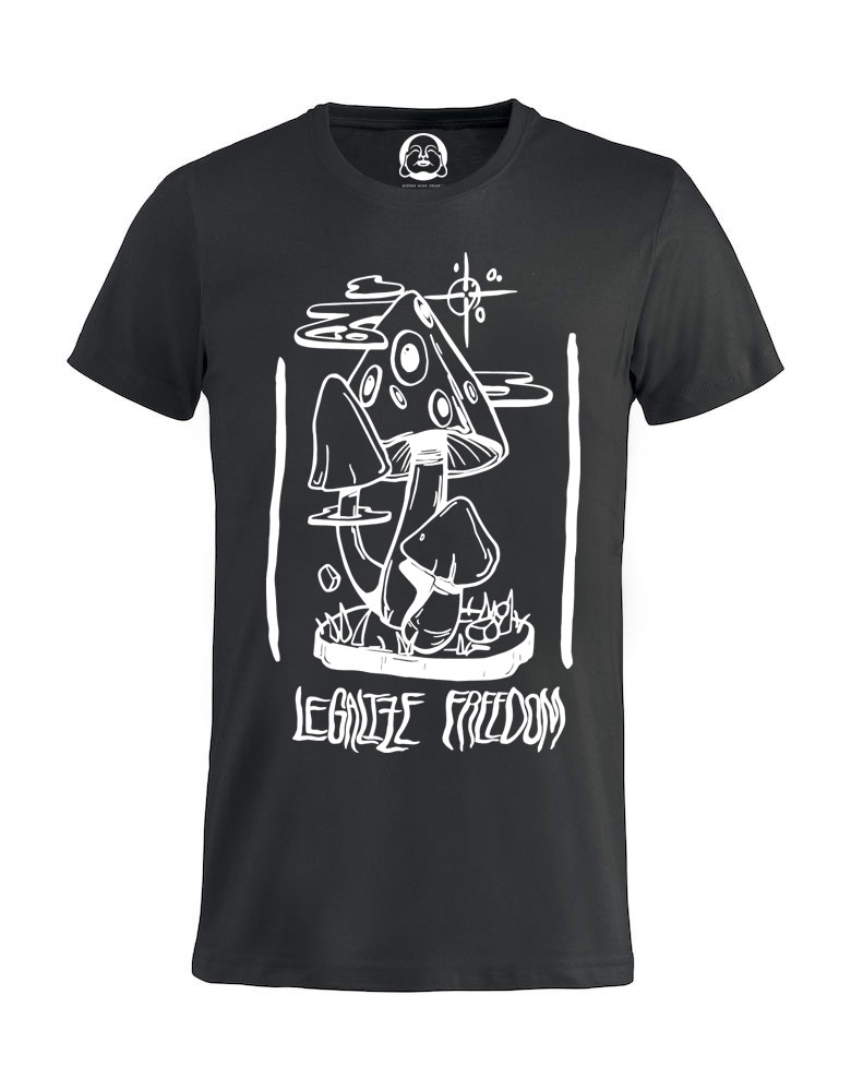 Legalize Freedom  T-shirt  €19.99 Available in black, dark grey