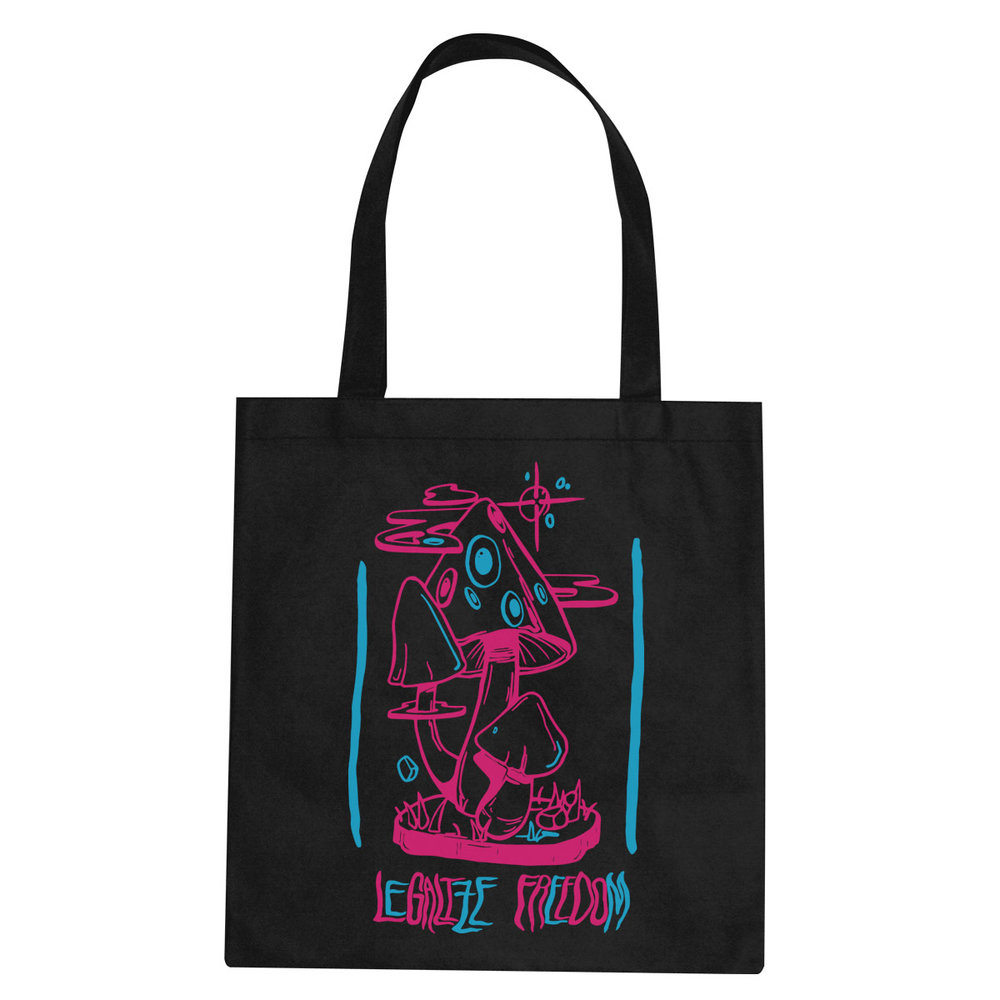 Legalize Freedom (neon) tote bag  €14.99 Available in black