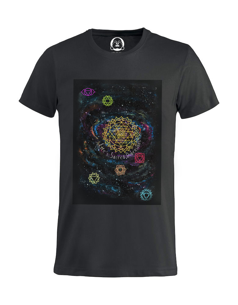 Life's Sacred Dimensions T-shirt  €19.99 Available in black, dark grey