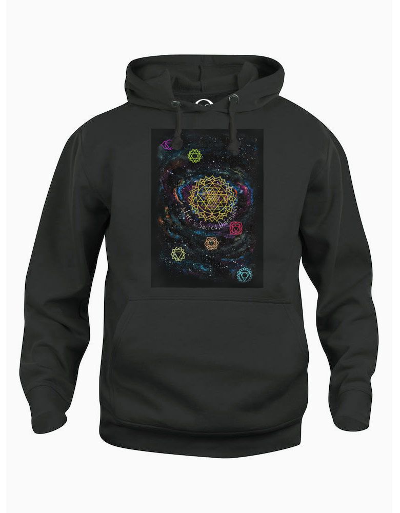 Life's Sacred Dimensions hoodie  €34.99 Available in white, black, dark grey