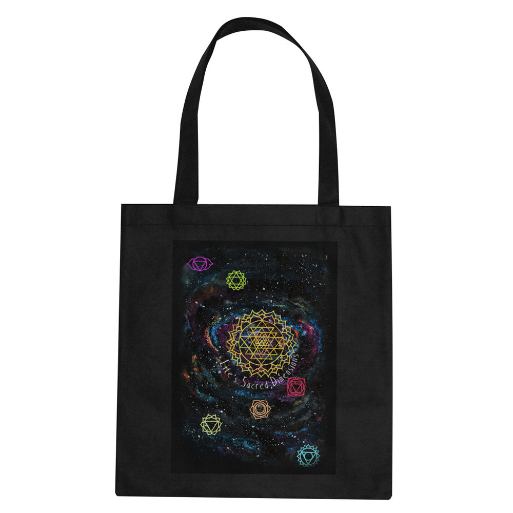 Life's Sacred Dimensions tote bag  €14.99 Available in black