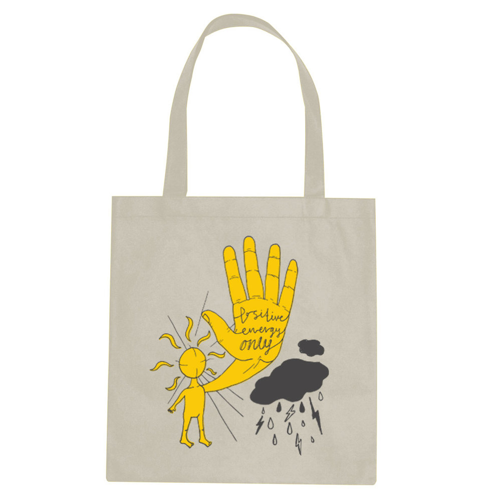Positive Energy Only tote bag  €14.99 Available in natural, black
