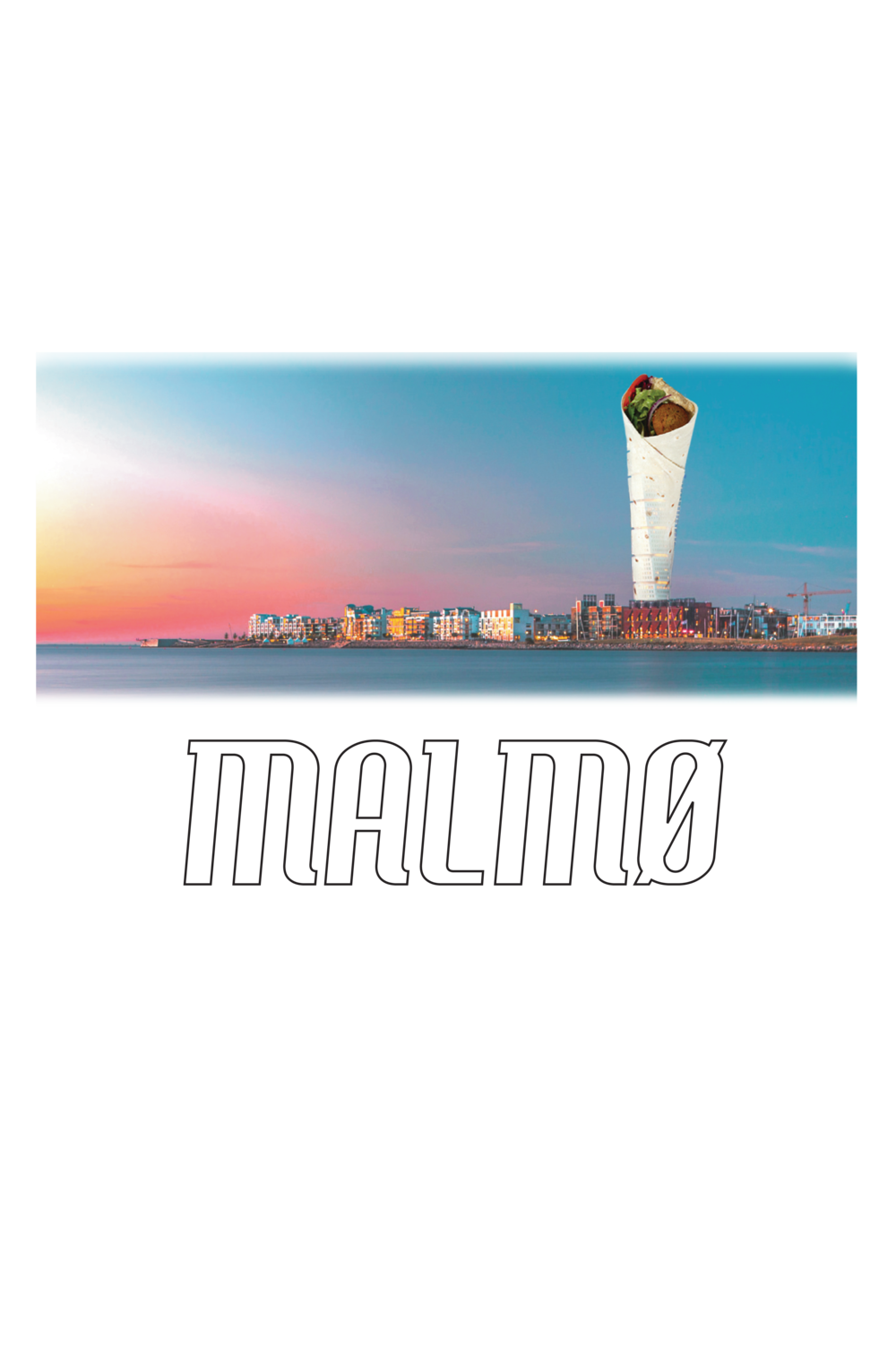 Malmø Turning Falafel Poster  €9.99–€14.99 Available in A4, A3