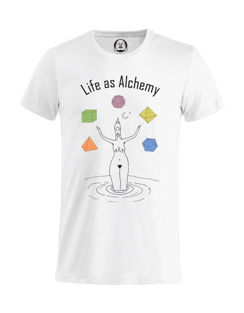 Life As Alchemy T-shirt  €19.99 Available in white, black, dark grey