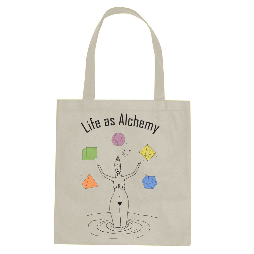 Life As Alchemy tote bag  €14.99 Available in natural, black